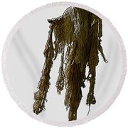 New Photographic Art Print For Sale   Day Of The Dead Skeleton On A Stick Round Beach Towel