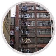New Photographic Art Print For Sale Downtown Los Angeles 5 Round Beach Towel