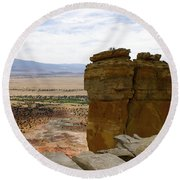 New Photographic Art Print For Sale Ghost Ranch New Mexico 10 Round Beach Towel