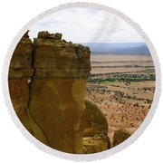 New Photographic Art Print For Sale Ghost Ranch New Mexico 11 Round Beach Towel