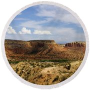 Ghost Ranch Landscape New Mexico 12 Round Beach Towel