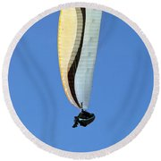 New Photographic Art Print For Sale Hanggliding 4 Round Beach Towel