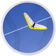 New Photographic Art Print For Sale Hanggliding 7 Round Beach Towel