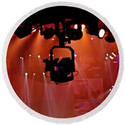 New Photographic Art Print For Sale Lights Camera Action Backstage At The American Music Award Round Beach Towel