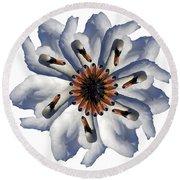 New Photographic Art Print For Sale Pop Art Swan Flower On White Round Beach Towel