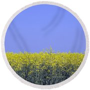 New Photographic Art Print For Sale Yellow English Fields 2 Round Beach Towel