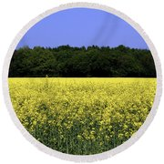 New Photographic Art Print For Sale Yellow English Fields Round Beach Towel