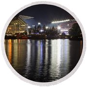New Husky Stadium Reflection Round Beach Towel