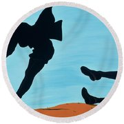 New Thrills For Peggy, 1998 Round Beach Towel