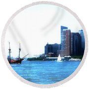 New York 4 Round Beach Towel