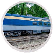 New York And Lake Erie Railroad Round Beach Towel