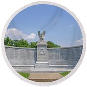 New York Auxiliary State Monument Round Beach Towel