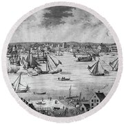 New York City, 1717 Round Beach Towel