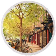 New York City - Autumn In The East Village  Round Beach Towel