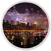 New York City Celebrates Round Beach Towel