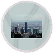 New York City Chrysler Building Round Beach Towel
