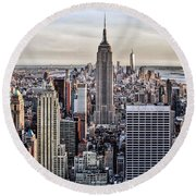 On Top Of The Rock Round Beach Towel