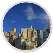 New York City From Central Park Round Beach Towel