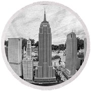 New York City Skyline - Lego Round Beach Towel