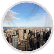 New York City View Round Beach Towel