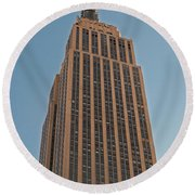 New York Empire State Building Round Beach Towel