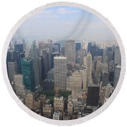New York From Above Round Beach Towel