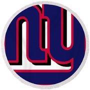 New York Giants Football 2 Round Beach Towel
