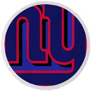 New York Giants Football Round Beach Towel