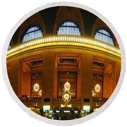 New York - Grand Central Station Round Beach Towel