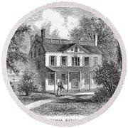 New York: Mansion, 1763 Round Beach Towel