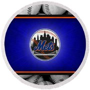 New York Mets Round Beach Towel