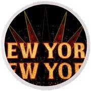New York New York Round Beach Towel
