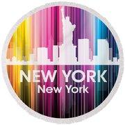 New York Ny 2 Round Beach Towel