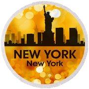 New York Ny 3 Round Beach Towel