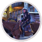 New York Police Department Round Beach Towel