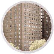 New York Public Housing Round Beach Towel