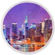 New York City - Skyline Round Beach Towel