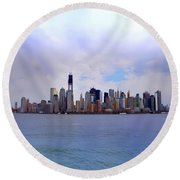 New York - Standing Tall Round Beach Towel by Bill Cannon