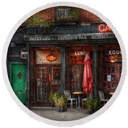 New York - Store - Greenwich Village - Sweet Life Cafe Round Beach Towel
