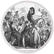 New York: Washington, 1776 Round Beach Towel