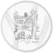 New Yorker October 26th, 1998 Round Beach Towel by Danny Shanahan