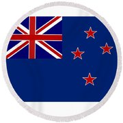 New Zealand Flag Round Beach Towel