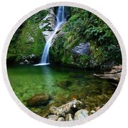 New Zealand Mountain Pure Round Beach Towel