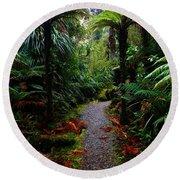 New Zealand Rainforest Round Beach Towel