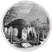 Newark Cemetery, 1876 Round Beach Towel