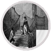 Newark Schuyler Mansion Round Beach Towel