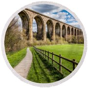 Newbridge Rail Viaduct Round Beach Towel