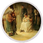 Newgate Committed For Trial, 1878 Round Beach Towel