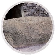 Newgrange Entrance Kerb Round Beach Towel