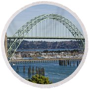Newport Bridge Round Beach Towel